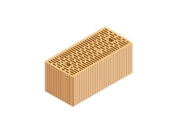 Loadbearing clay block M.A. 2.0. 45X21X19 by T2D