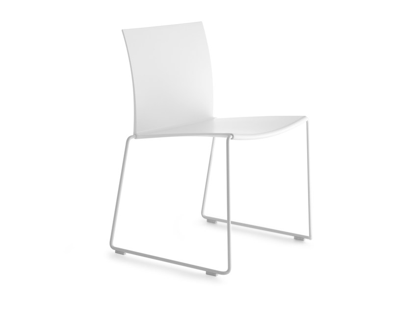 Sled base stackable chair M1 by MDF Italia