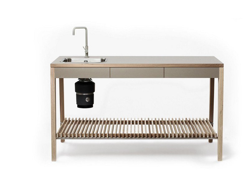 Modulo cucina freestanding in legno M1001 By MINT FACTORY