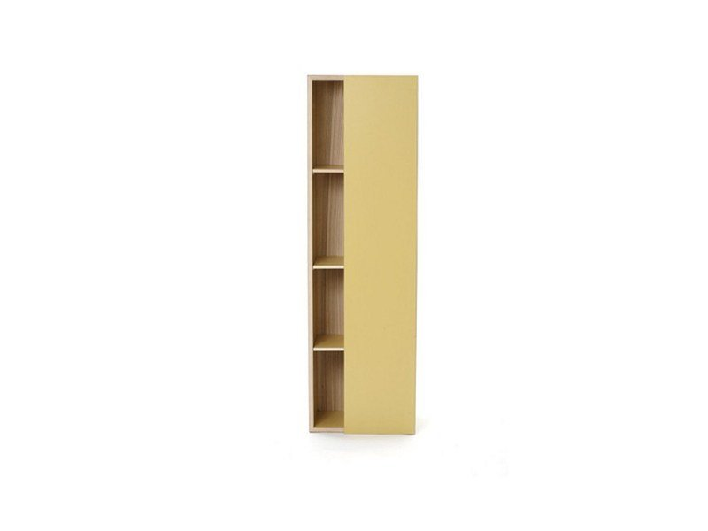 Lacquered wooden wall cabinet with door M1600 by MINT FACTORY