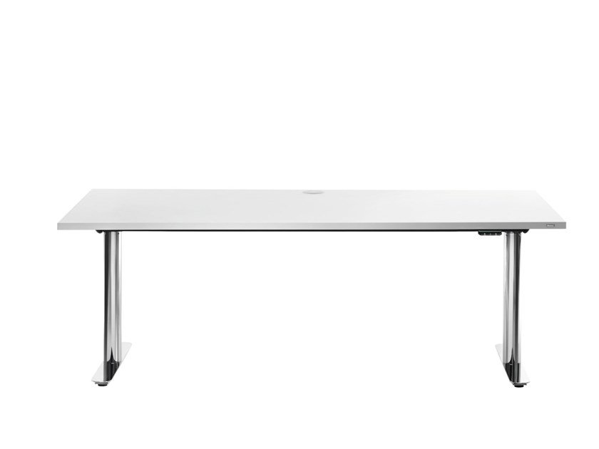 Höhenverstellbarer rechteckiger Büro-Schreibtisch mit Elektroantrieb M2-DESK by Bosse