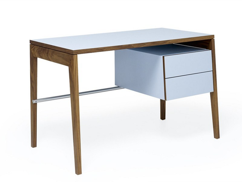 Rectangular wooden writing desk with drawers M2500 | Writing desk by MINT FACTORY