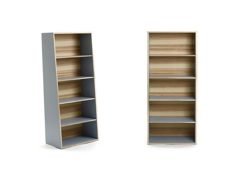 Open lacquered wooden bookcase M7000 by MINT FACTORY