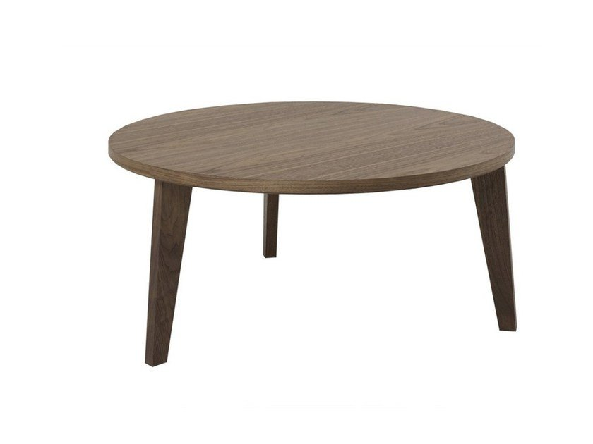 Round wooden coffee table COFFEE TABLE MEDIUM by MINT FACTORY