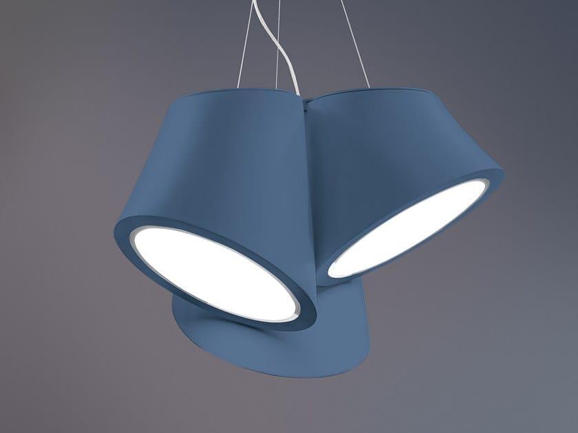 Lampada a sospensione a LED a luce diretta in materiale sintetico in stile moderno MABELL S3 G by Masiero