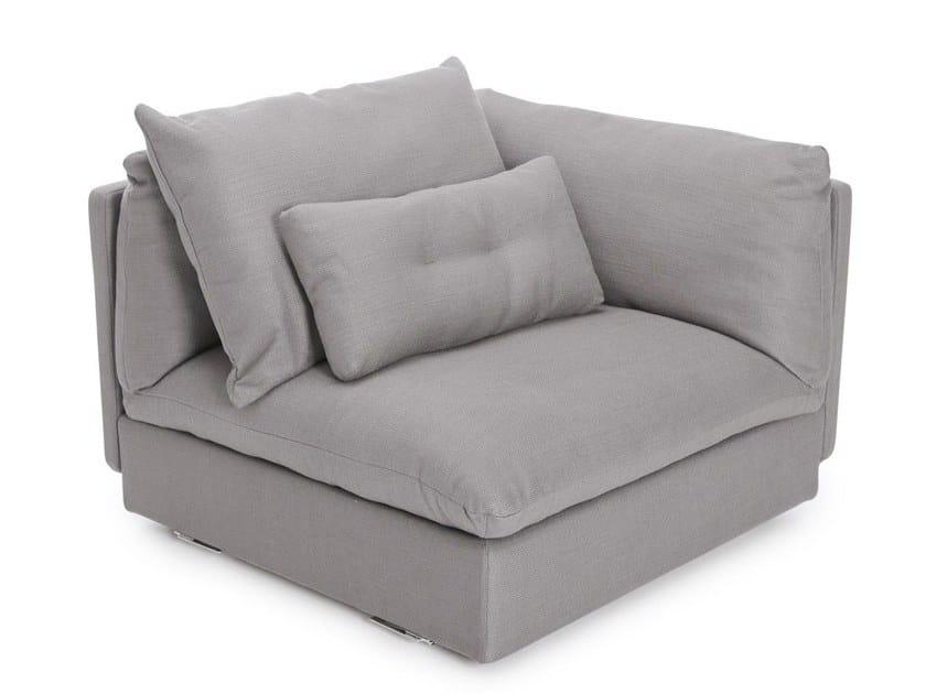 Corner modular fabric armchair MACCHIATO - CORNER by NORR11