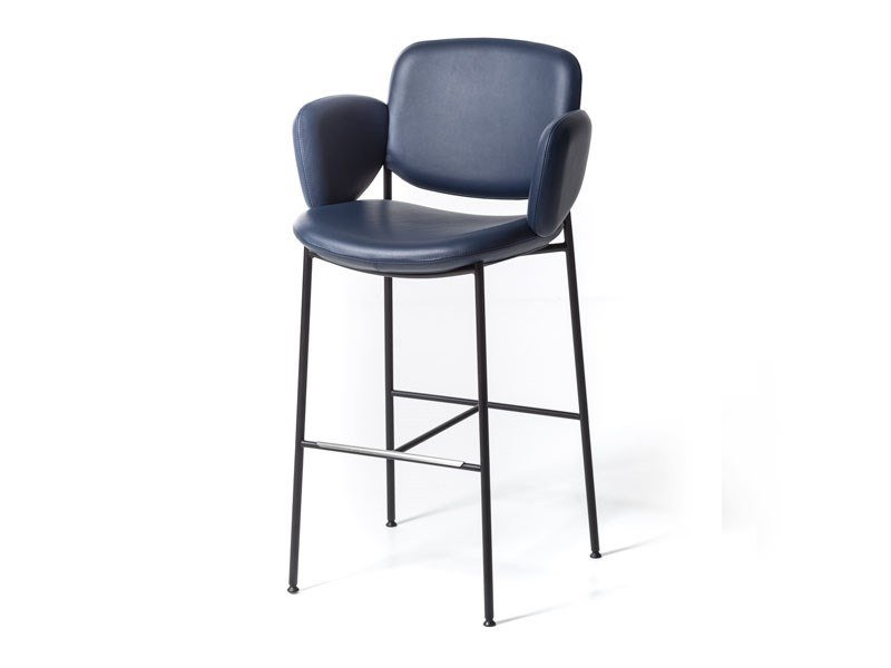 High leather stool MACKA ST | Leather stool by arrmet