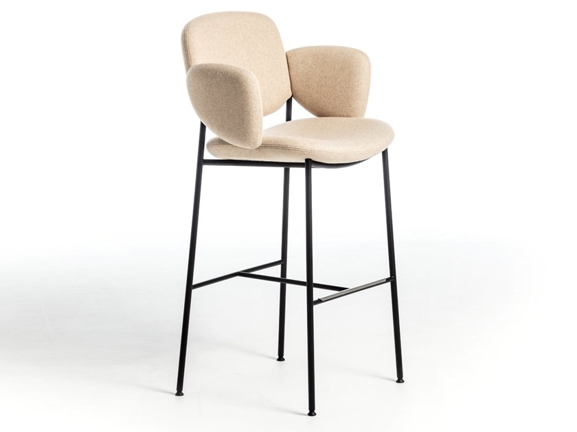 High fabric stool with armrests MACKA ST | Fabric stool by arrmet