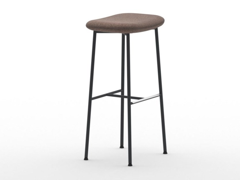 High stool with footrest MACKA ST SIMPLE by arrmet