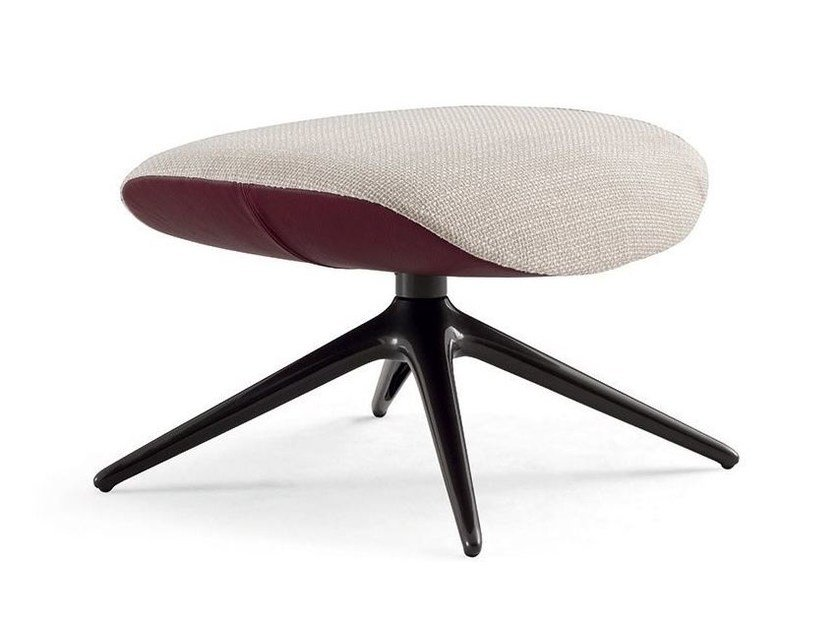 Fabric footstool with 4-spoke base MAD JOKER | Footstool by poliform