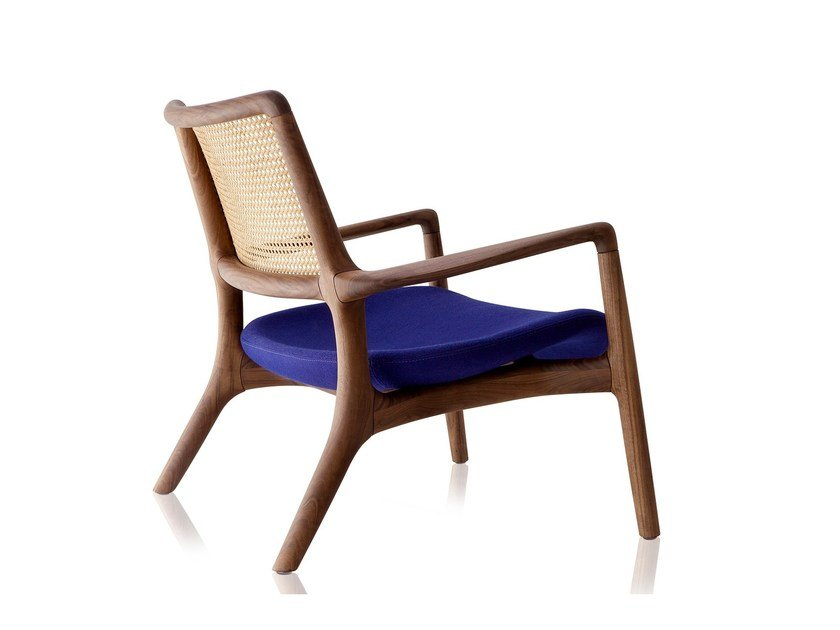 Solid wood easy chair with armrests MAD   Easy chair by Sollos