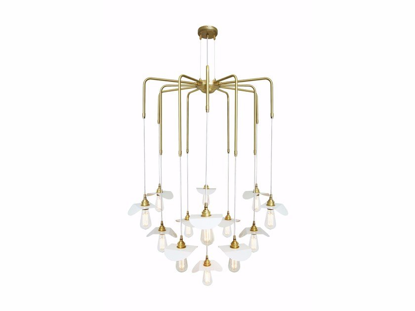 Brass chandelier MADABA | Chandelier by Mullan Lighting