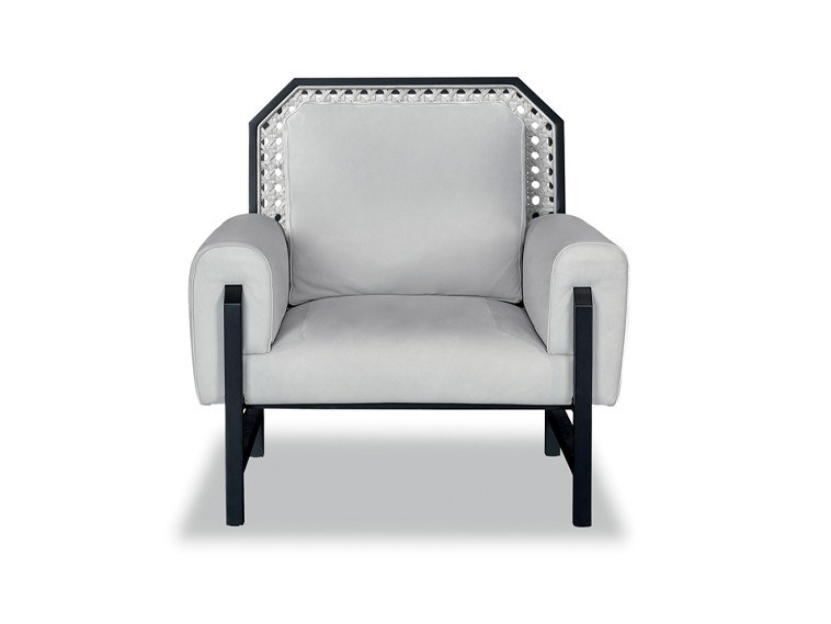 Leather armchair with armrests MADAME by BAXTER