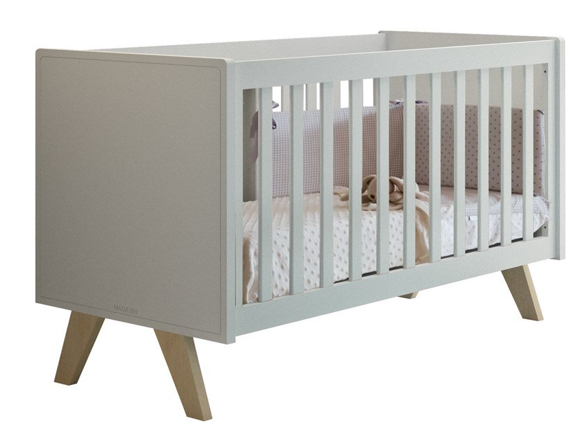 Lacquered MDF cot MADAVIN | Cot by Mathy by Bols