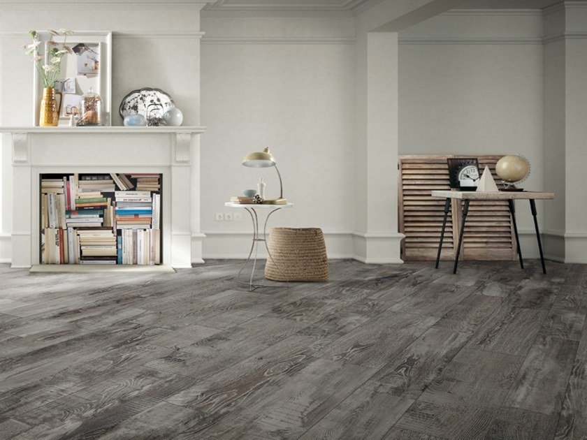 Porcelain stoneware flooring with wood effect MADEIRA by Iris Ceramica