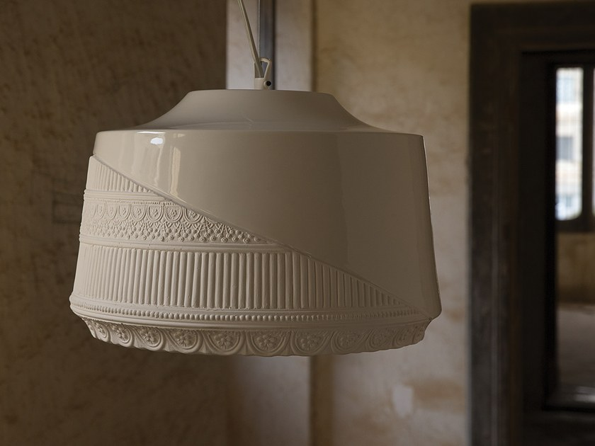 Ceramic pendant lamp MADEMOISELLE by Karman