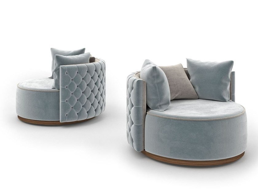 Tufted fabric armchair MADEMOISELLE by Scandal