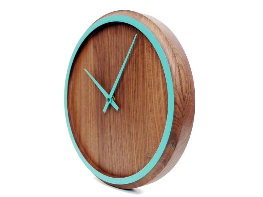 Wall-mounted walnut clock MADERA   Wall-mounted clock by Otono Design