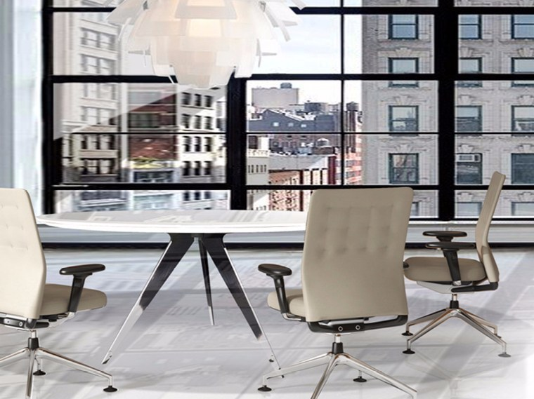 Steel and wood meeting table MADISON MEETING   Round meeting table by JOSE MARTINEZ MEDINA