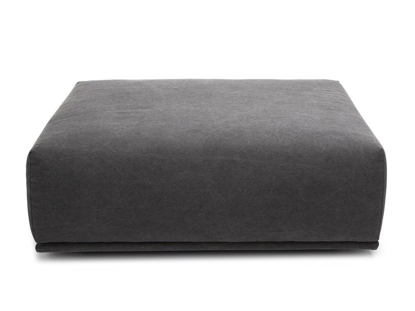 Upholstered rectangular fabric pouf MADONNA SMALL OTTOMAN by NORR11