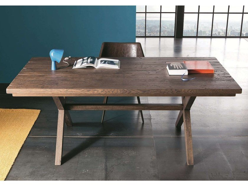Rectangular oak table MADRID by AltaCorte