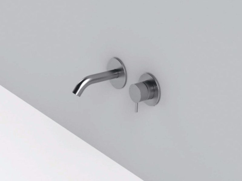 2 hole wall-mounted stainless steel washbasin mixer MAE | 2 hole washbasin mixer by Rexa Design