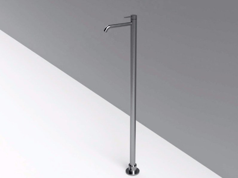 Contemporary style floor standing single handle stainless steel washbasin mixer MAE | Floor standing washbasin mixer by Rexa Design
