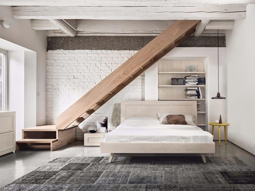 Solid wood bedroom set MAESTRALE M01 by Scandola Mobili