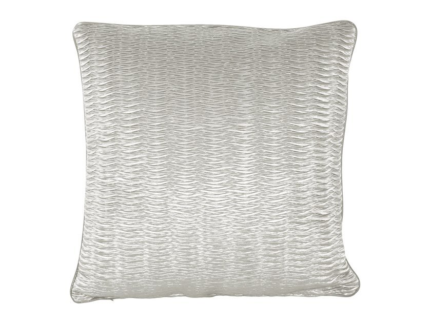 Solid-color square fabric cushion MAESTRO by Longhi