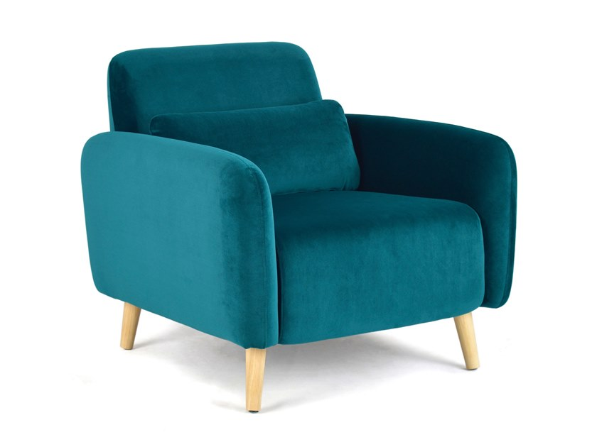 Fabric armchair with armrests MAESTRO by meeloa