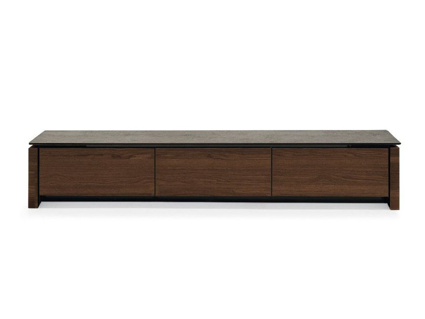Low TV Cabinet With Flap Doors MAG | TV Cabinet By Calligaris