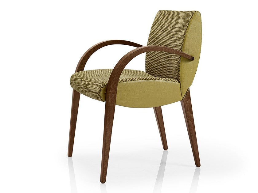 Fabric restaurant chair with armrests MAGEE | Restaurant chair by JMS