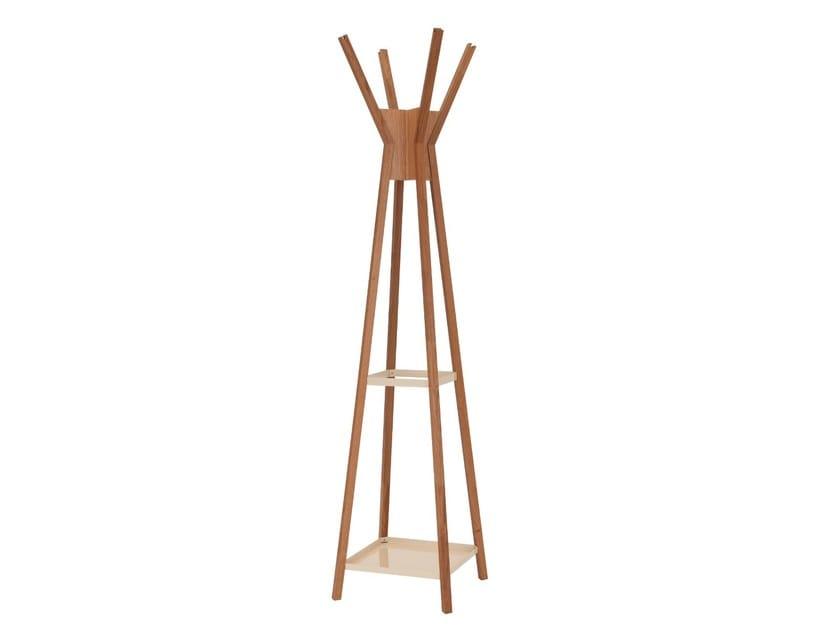 Oak coat stand MAGELLAN by Woodman