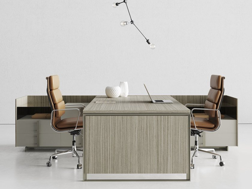 Multiple laminate office workstation MAGENTA | Multiple office workstation by CUF Milano