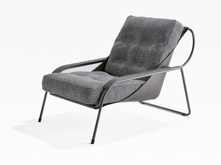 Upholstered fabric Chaise longue MAGGIOLINA | Fabric Chaise longue by Zanotta