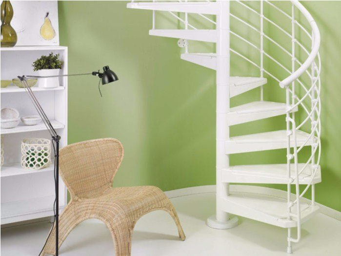 Steel Spiral staircase in kit form MAGIA 50.XTRA by Fontanot