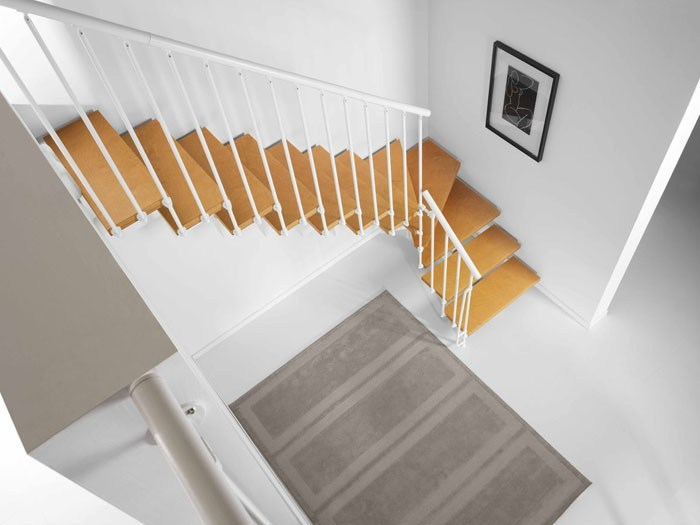 Open staircase in kit form MAGIA 90 by Fontanot