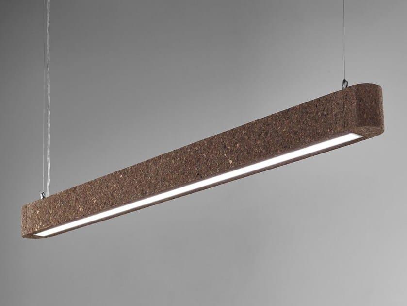 Direct light cork pendant lamp MAGIC by Exporlux