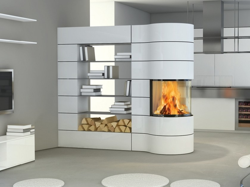 Fireplace insert with Panoramic Glass MAGIC by SPARTHERM