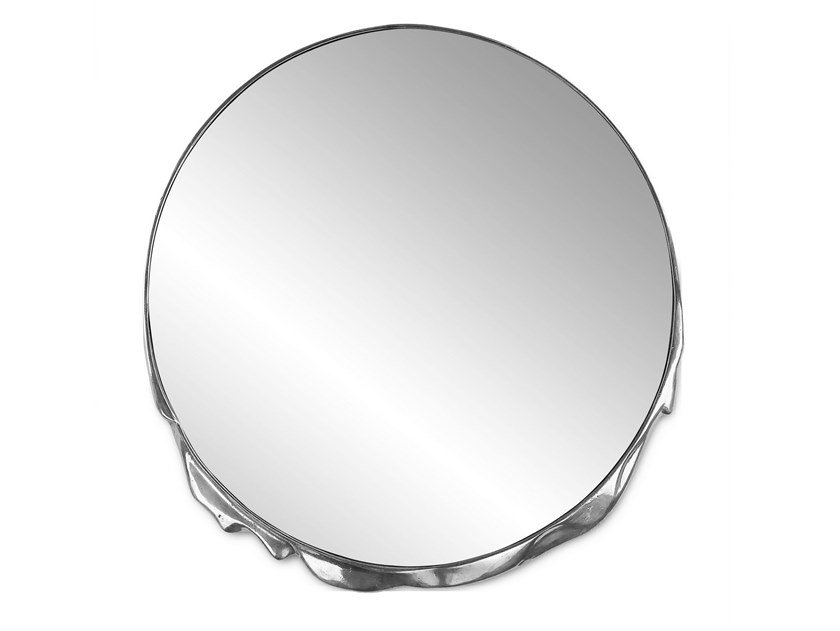 Round wall-mounted aluminium mirror MAGMA by Boca do Lobo