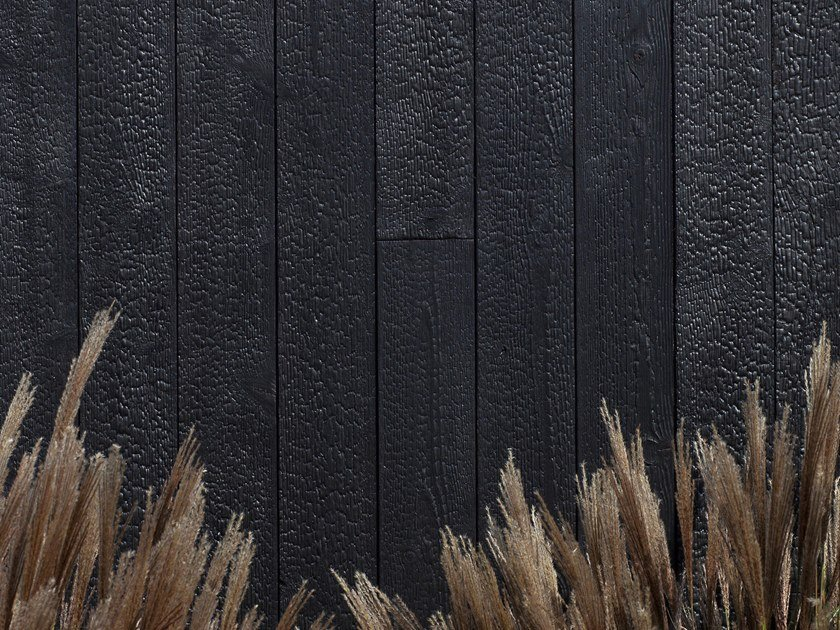 Charred wood wall tiles MAGMA by Freund GmbH