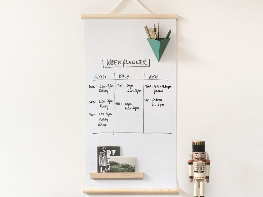 Magnetic dry erase board MAGNETIC POSTER WHITEBOARD by Groovy Magnets