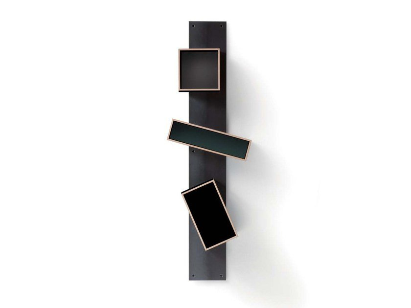 Open wall-mounted modular bookcase MAGNETIQUE by Nils Holger Moormann