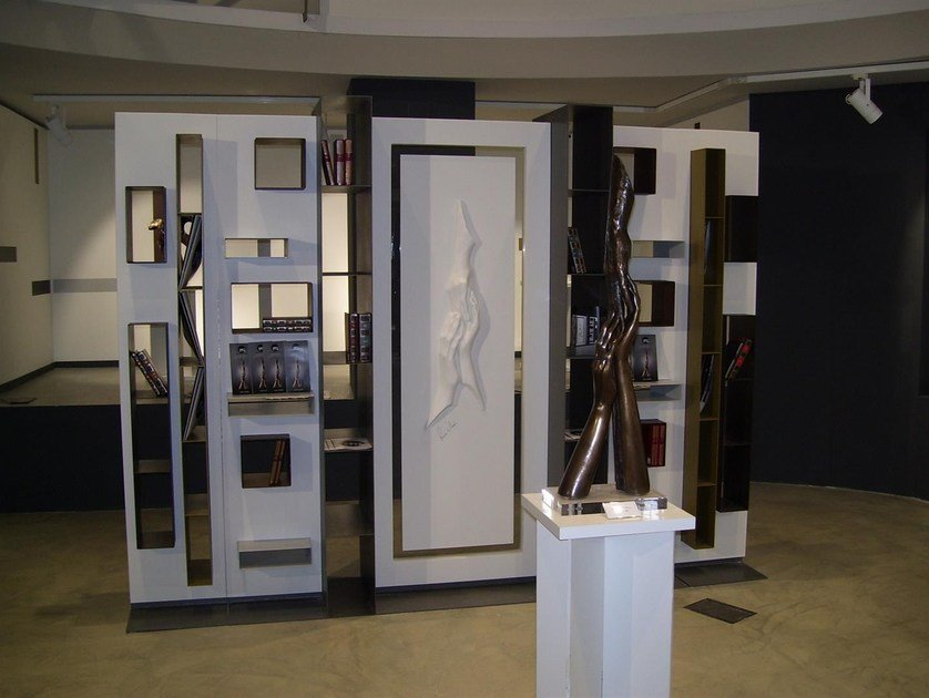 Open modular metal bookcase MAGNIFICA | Bookcase by Boffetto