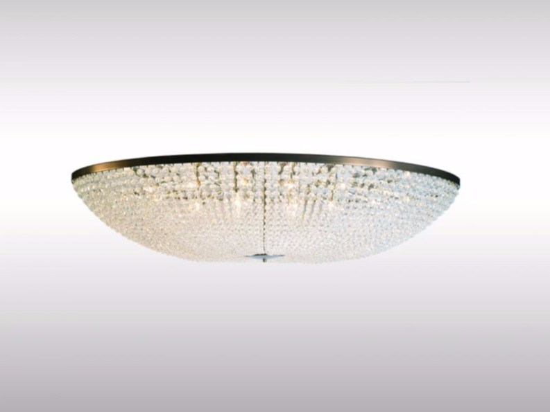 Crystal ceiling lamp MAGNIFICENT OVAL BEADED CHANDELIER by Woka Lamps Vienna