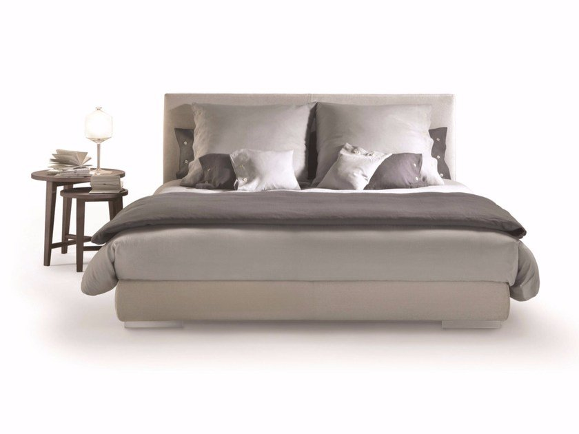 Fabric double bed with removable cover MAGNUM | Bed by FLEXFORM