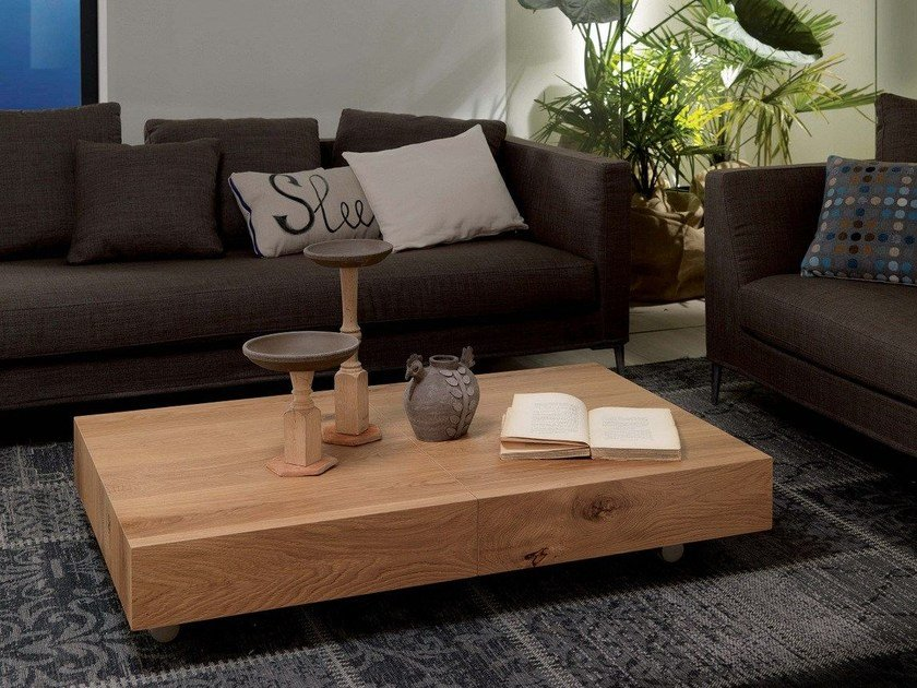 MAGNUM LEGNO Heightadjustable coffee table By Ozzio Italia