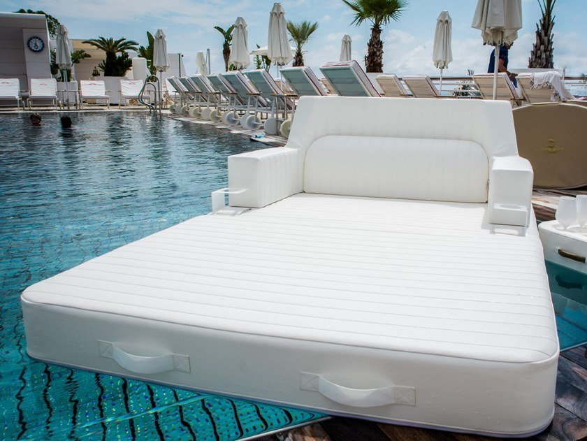 Eco-leather floating lounge MAGNUM by Trona