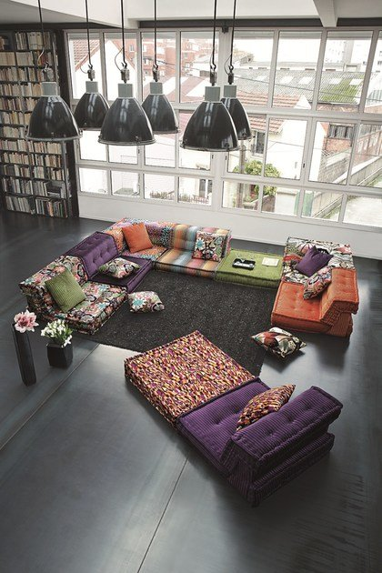 sectional fabric sofa mah jong missoni home by roche. Black Bedroom Furniture Sets. Home Design Ideas