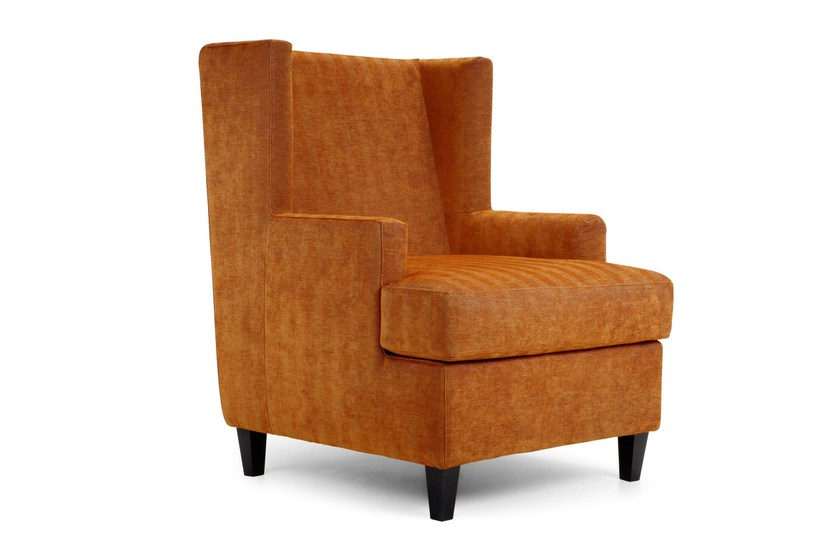 Upholstered fabric armchair with armrests MAIDIN | Armchair by Domingo Salotti